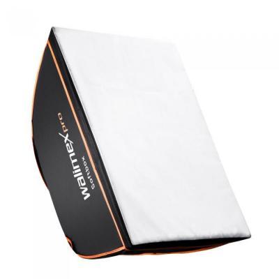 Walimex softbox: pro Softbox OL 50x70cm pro & K - Zwart, Wit