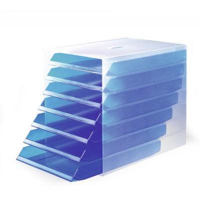 Durable IDEALBOX Brievenbak - Blauw, Doorschijnend
