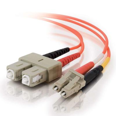 C2G 1m LC/SC LSZH Duplex 50/125 Multimode Fibre Patch Cable Fiber optic kabel