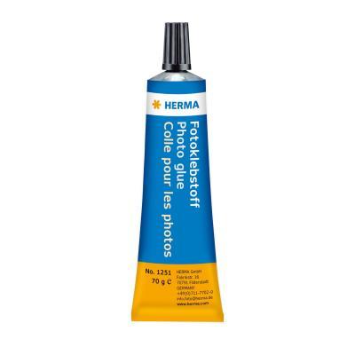 Herma lijm: Lijm Tube 70 g - Blauw, Oranje