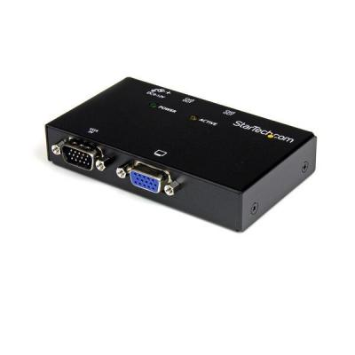 Startech.com AV extender: 2-poort VGA Video Verlenger via Cat5   Zender - Zwart