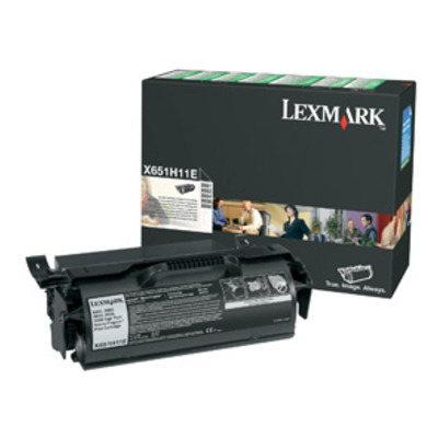 Lexmark X65x High Yield Return Program Print Cartridge Toner - Zwart