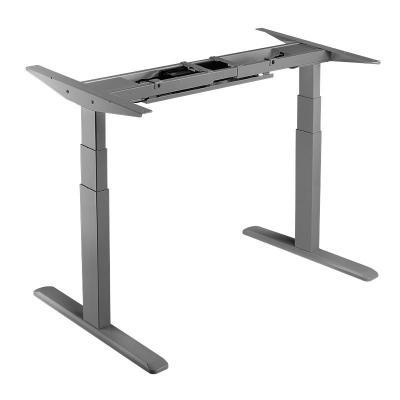LogiLink Dual Motor Sit-Stand Desk Frame, 3 column stages, grey