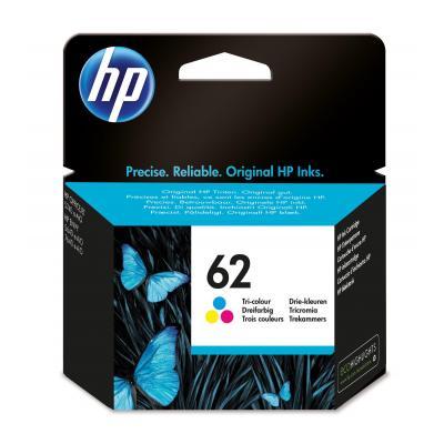 HP inktcartridge: 62 originele drie-kleuren inktcartridge - Cyaan, Magenta, Geel