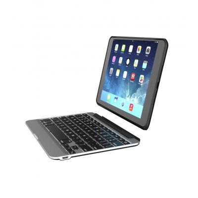 Zagg mobile device keyboard: Slim book - Zwart