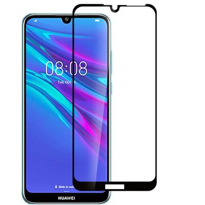 ESTUFF Huawei Y6 (2019) Screen protector - Zwart,Transparant