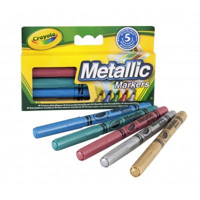 Crayola viltstift: 5 Metallic viltstiften - Multi kleuren
