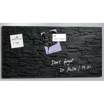 Sigel magnetisch bord: GLASBORD SIG 910X460X15MM  - Zwart