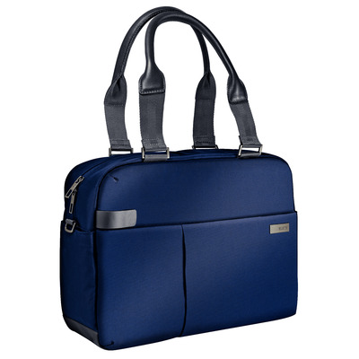 "Leitz Complete 13,3"" Smart Laptop Shopper, 750 g, Titanium blauw Laptoptas - Zwart, Blauw"