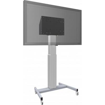 SmartMetals Vloerlift XL op wielen voor (touch-) flatscreens max. 120 kg TV standaard - Grijs, Zilver