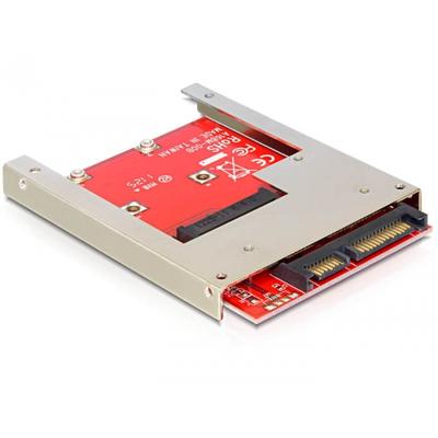 DeLOCK 61892, SATA 22-pin / mSATA Interfaceadapter - Rood