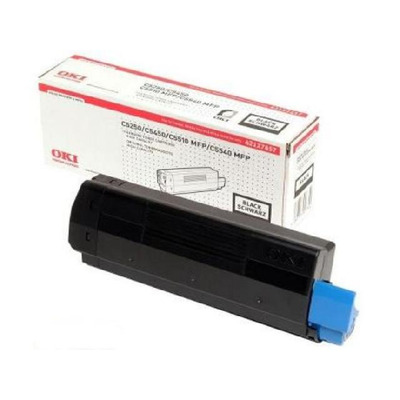 OKI toner: Black Toner Cartridge - Zwart