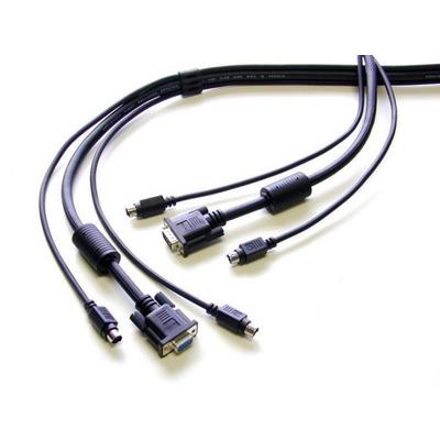 Newstar KVM Switch cable, PS/2 KVM kabel - Zwart