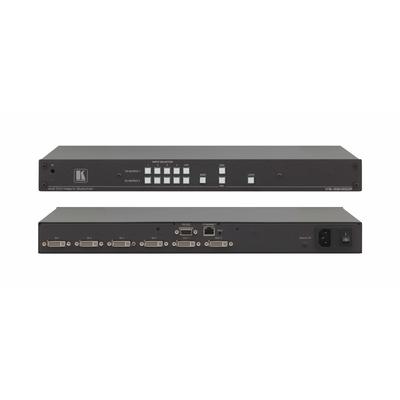 Kramer Electronics UXGA, 6.75 Gbps, HDCP, 6x DVI, Ethernet Video switch - Zwart