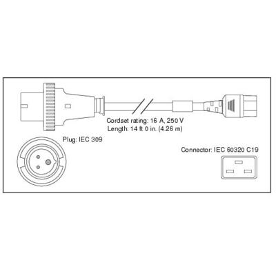 Cisco CAB-AC-2500W-INT= Electriciteitssnoer