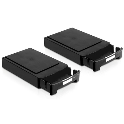 DeLOCK 2 x Storage Boxes for 3.5 HDDs stackable Behuizing - Zwart