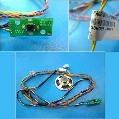 HP Power on/off switch and LEDs cable assembly - Includes system speaker and thermal heat sensor (Q1) embedded in the .....