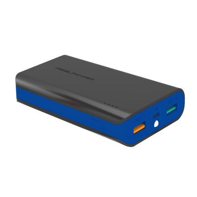 RealPower Ultron, PB-6k Color Edition (Zwart-Blauw) Batterij