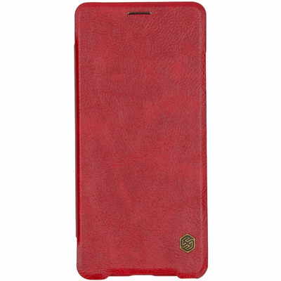 Qin Leather Slim Booktype Sony Xperia XZ3 - Rood / Red Mobile phone case