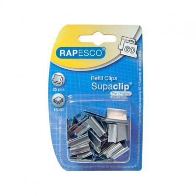 Rapesco papierklem: Supaclip 60 - Zilver
