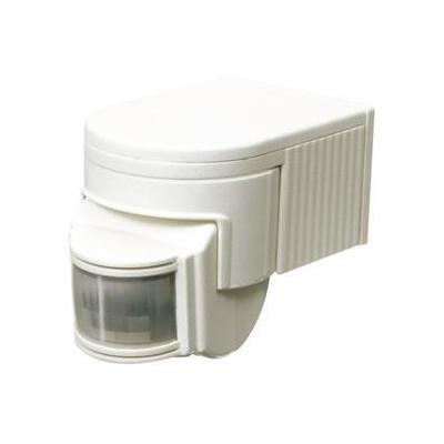 Hq bewegingssensor: PIR, 6 m, 3 - 2000 lx, 1200 W, IP44, White - Wit