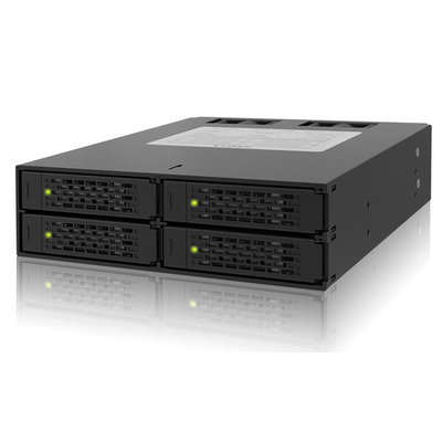 "Icy Dock MB994SP-4SB-1 - 2.5"" SATA 1.5/3/6 GBit/s SSD/HDD x4, 7-Pin SATA x4, Up to 6Gbps Drive bay - Zwart"