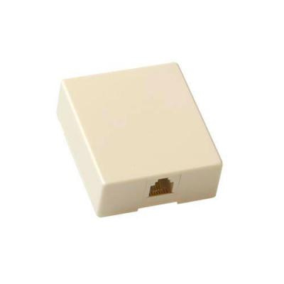 Advanced cable technology wandcontactdoos: RJ-11, Screw contacts - Beige