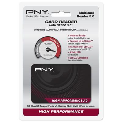 PNY High Performance Reader 3.0 Geheugenkaartlezer - Zwart