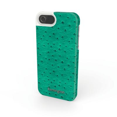 Kensington mobile phone case: Leather Texture Case for iPhone® 5/5s - Groen
