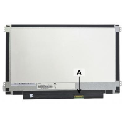 "2-power notebook reserve-onderdeel: 29.464 cm (11.6 "") 1366x768 HD+ LED Glossy - Zwart, Wit"