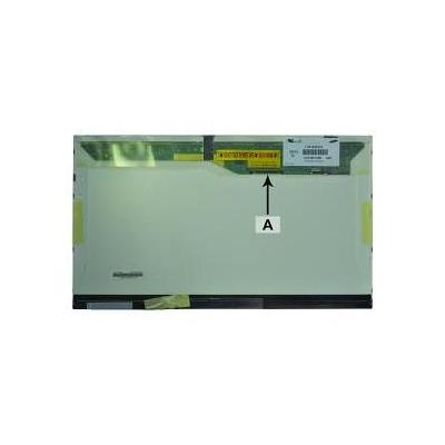 "2-power notebook reserve-onderdeel: 46.736 cm (18.4 "") WSXGA+ 1680x945 CCFL1 Glossy - Zwart, Wit"