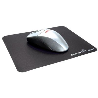 ROLINE MousePad f/ Laser Mouse, Black Muismat - Zwart
