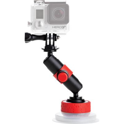 Joby camera-ophangaccessoire: Suction Cup & Locking Arm for action video cameras - Zwart, Rood