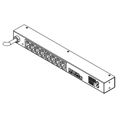 Raritan PXE-1190R Energiedistributie - Zwart