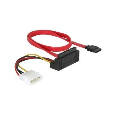 Delock ATA kabel: SATA All-in-One cable angled - Rood