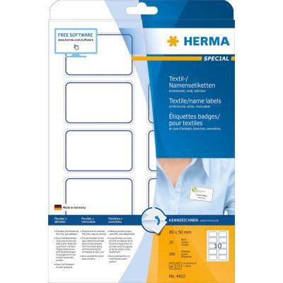 Herma etiket: A4, 80 x 50mm - Blauw, Wit