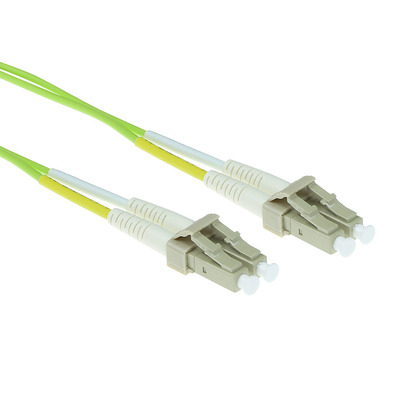 ACT 2 meter LSZH Multimode 50/125 OM5 glasvezel patchkabel duplex met LC connectoren Fiber optic kabel - Groen