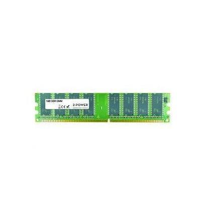 2-power RAM-geheugen: 1GB DDR 400MHz DIMM - Bruin, Groen