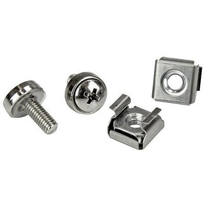 Startech.com schroef en bout: 100 Stuks M5 Montageschroeven en Kooimoeren voor Serverrack - Zilver