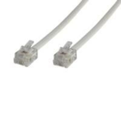 Microconnect RJ12/RJ12 5m Telefoon kabel - Wit