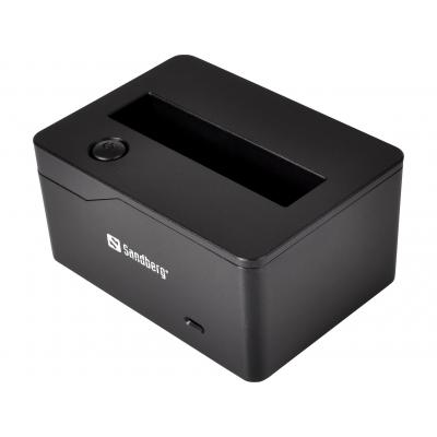 Sandberg HDD/SSD docking station: USB 3.0 SATA Docking 2.5'' - Zwart