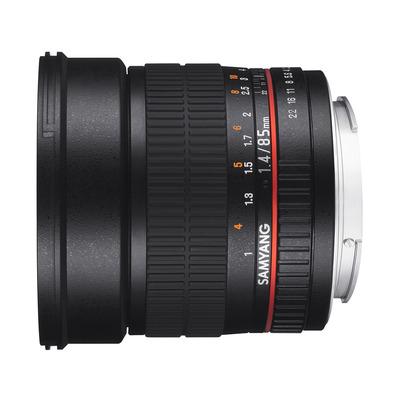 Samyang camera lens: 85mm F1.4 AS IF UMC - Zwart