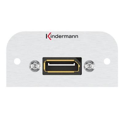 Kindermann 7441000588 Wandcontactdoos - Aluminium