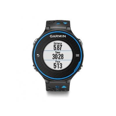 "Garmin sporthorloge: 2.54 cm (1.0 "") , lithium-ion, 1000 laps, VO₂, black/blue with HRM-Run - Zwart, Blauw"