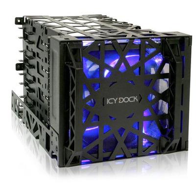 "Icy Dock 4x 3.5"" IDE/SAS/SATA HDD, 3x .5.25"", 904g, Black Drive bay - Zwart"