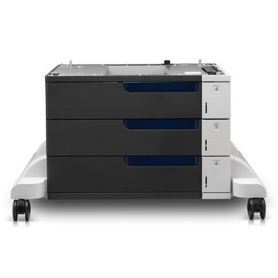 Hp papierlade: LaserJet Color LaserJet papierinvoer en standaard voor 3 x 500 vel