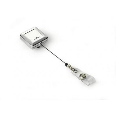 Durable badge: Badge reel chrome Quadro
