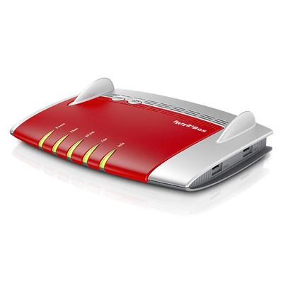 AVM FRITZ!Box 5490 Wireless router - Grijs,Rood