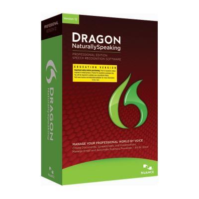 Nuance stemherkenningssofware: Dragon NaturallySpeaking 12 Professional, EDU