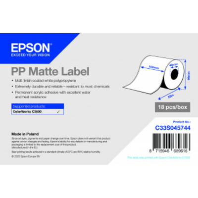 Epson C33S045744 Etiket